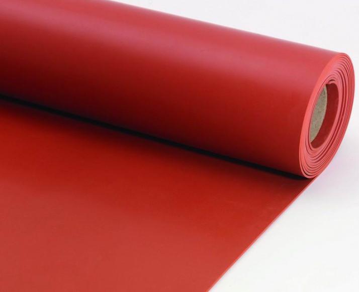 płyta silikonowa czerwona techniczna, czerwony silikon czerwony, guma silikonowa czerwona