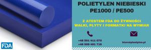Niebieskie płyty z polietylenu do rozbioru ryb