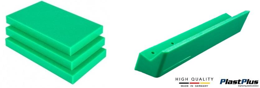 polietylen zielony PE1000 tecafine wałki pręty płyty formatki tuleje rury