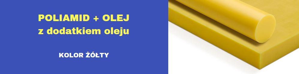 płyty poliamidowe żółte, płyty pa6 z olejem