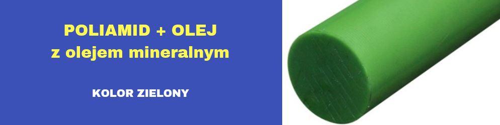 wałki poliamidowe zielone z olejem, pa6 z olejem
