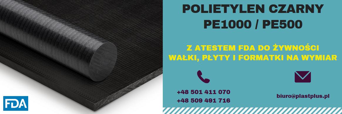 polietylen czarny, PE1000 czarny, PE500 czarny, PE300 czarny, wałki, płyty